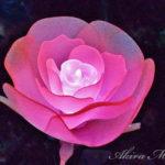 「花」のイルミが独創的で面白い【あしかがフラワーパーク】